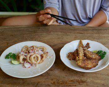 Food in Bali.