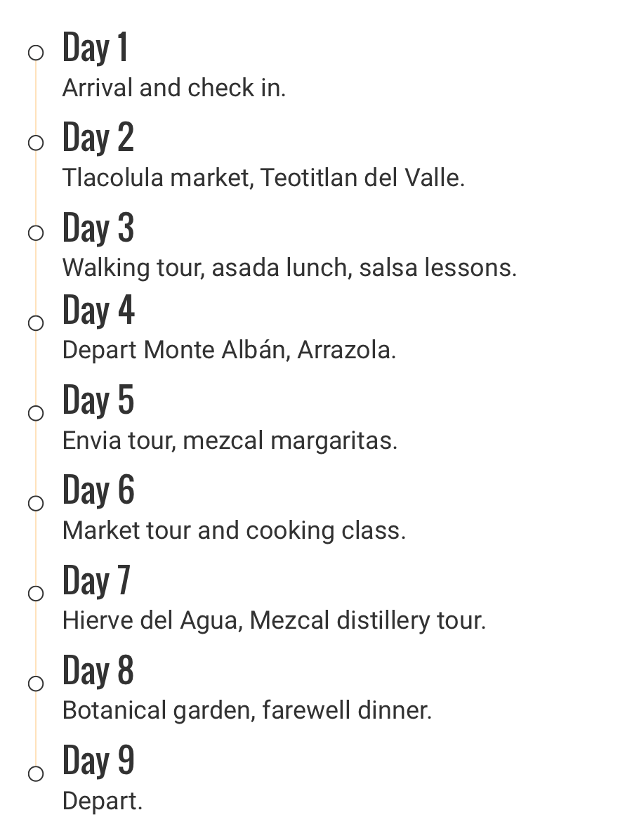 Oaxaca-itinerary